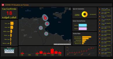 Coronavirus - Karte der Verbreitung von AGEOS
