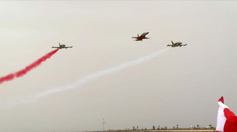 Ein tunesisches Luftwaffengeschwader, dass von einer F5 und zwei L59 eröffnet wurde