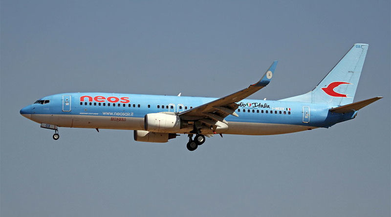Boeing B737-800 von NEOS - Bild: Von Ken Fielding/https://www.flickr.com/photos/kenfielding, CC BY-SA 3.0, https://commons.wikimedia.org/w/index.php?curid=32263038