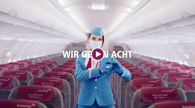 Eurowings: Erweiterte Hygienestandards vom Flughafen bis zur Ankunft