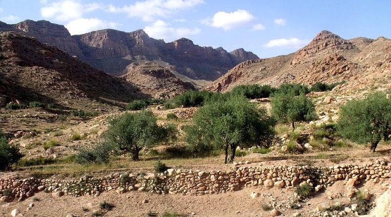 Bild: Jebel Orbata in Bou Omran, Tunesien (Gafsa)