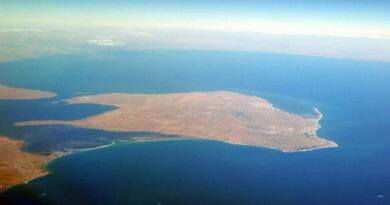 Insel Djerba aus dem All