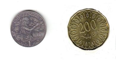 Jahr 2020-1441: Neue 1 Dinar und 200 Millimes Münzen im Umlauf