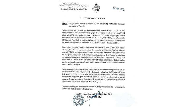 Präzisierung zu den Einreiseregelungen ab 26 August 2020