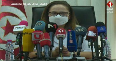 Pressekonferenz im Gesundheitsministerium zur epidemiologische Situation in Tunesien Nissaf Ben Alaya