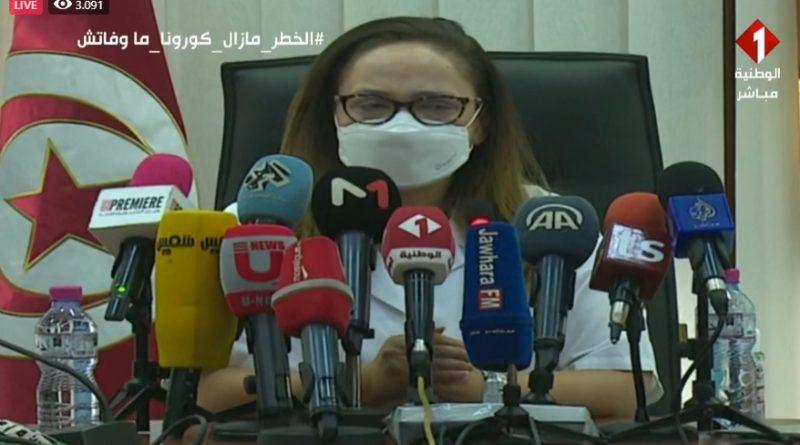 Pressekonferenz im Gesundheitsministerium zur epidemiologische Situation in Tunesien