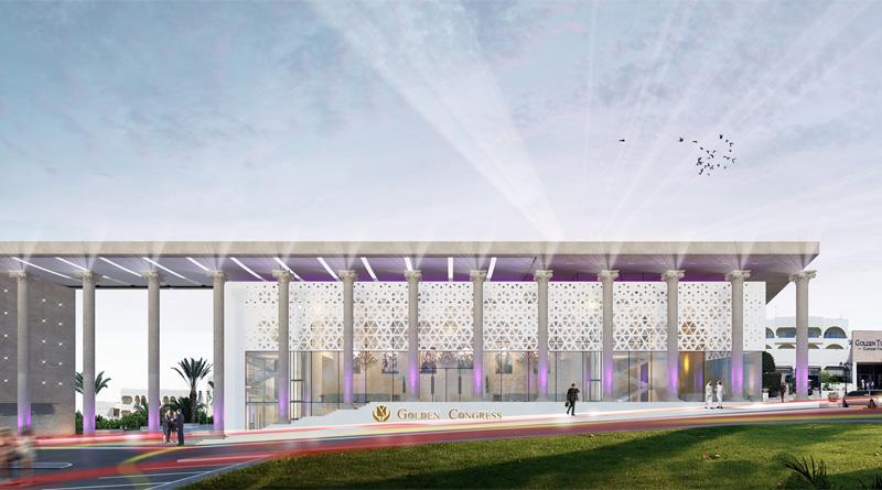 Entwurf für das Kongresscenter des Golden Carthage Hotel & Residence