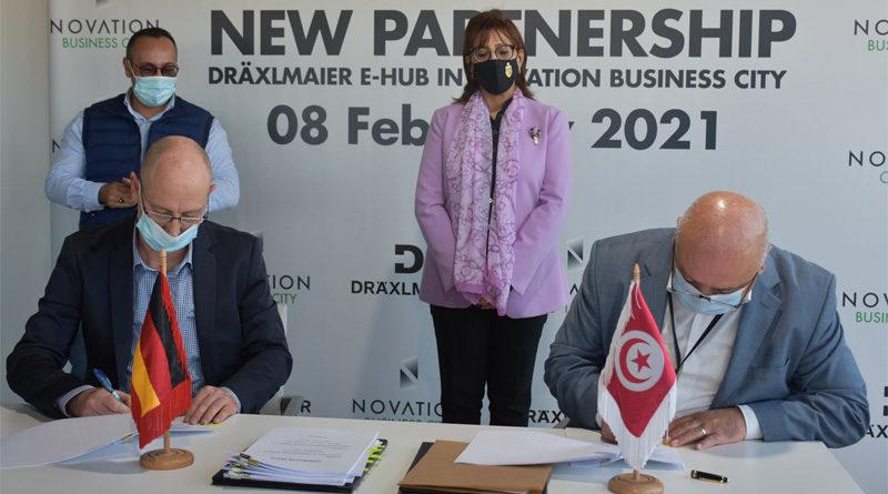 Entwicklungszentrum Dräxlmaier zeichnet Vertrag für Innovationszentrum im Technologiepark Sousse