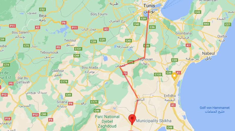 Auf dem Weg zu einer Autobahn zwischen Tunis und Sbikha?