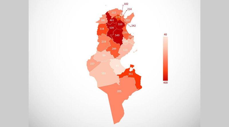 Tunesien: Covid-19 Bilanz von Do, 24 Juni 2021