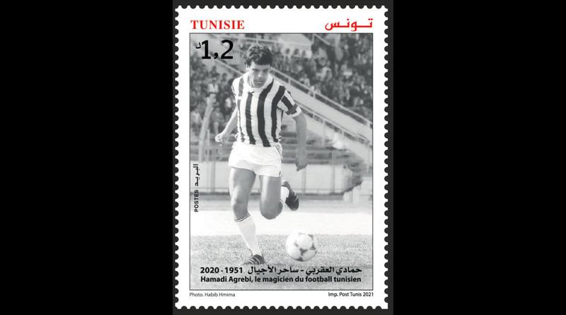 Ausgabe einer Briefmarke zu Ehren der Fußballlegende Hamadi Agrebi
