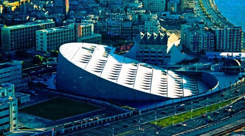 Neue Bibliothek von Alexandria - Bild: Sherif Ali Yousef - Eigenes Werk, CC BY-SA 4.0, https://commons.wikimedia.org/w/index.php?curid=58635026